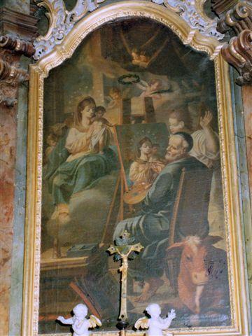 Původní oltářní obraz  od F. Kuntze, 1790