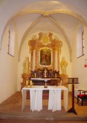 Presbytář / Iluzivní oltář z období baroka