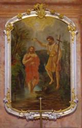 Křest Páně / Oltářní obraz (J. Kramolín, 2.pol. 18.století)