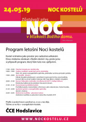 Program noci kostelů 2019