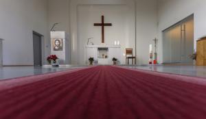 Interiér husitského kostela 3.