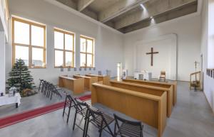 Interiér husitského kostela 2.