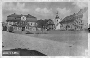 Kostel sv. Bartoloměje v Žandově / Historická fotografie