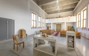 Interiér husitského kostela 1.
