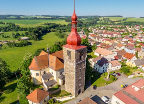 Kostel sv.Jana Křtitele v Přibyslavi