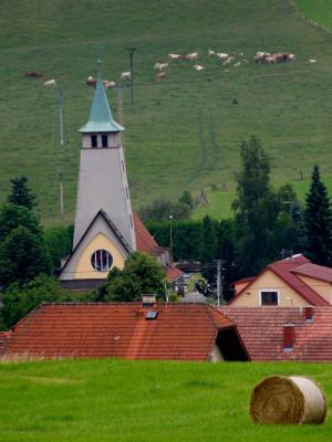 Střelná, kostel Nanebevzetí Panny Marie (ID 7042) / kostel s okolím / Autor fotografie: neznámý