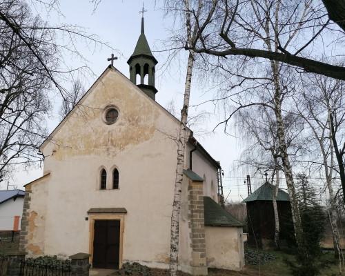 Nelahozeves, kostel sv. Ondřeje / pohled na kostel