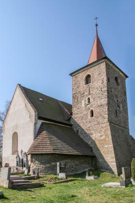 kostel - Vysoká  / pohled ze severovýchodu