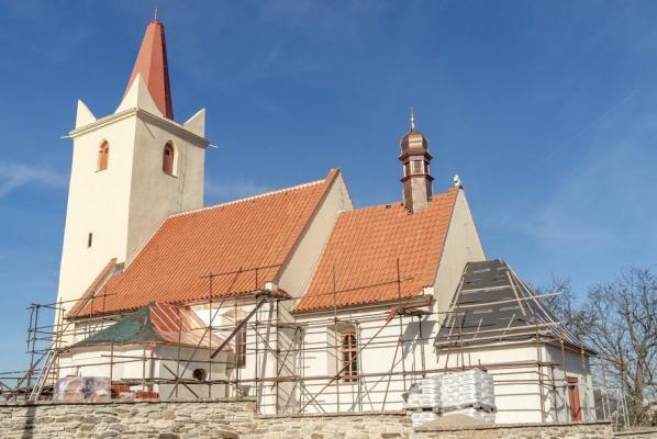 Pohled na kostel od jihu