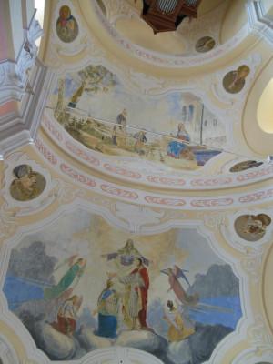 kostel Panny Marie Bolestné a sv. Jana Nepomuckého / klenba