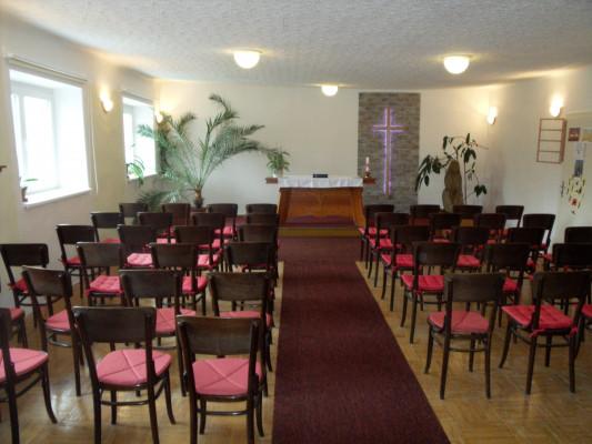 sborový dům CČSH Betlém - interiér
