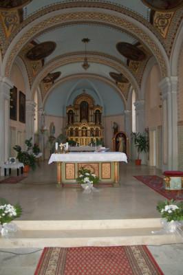 Starovice / interiér kostela