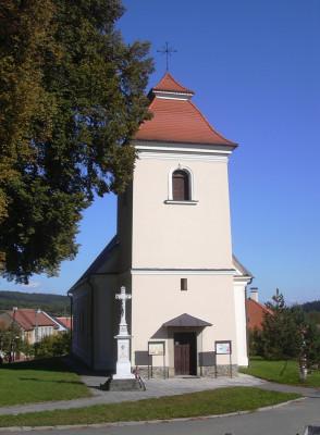 Farní kostel Rychtářov / Barokní stavba kostela Nanebevzetí Panny Marie v Rychtářově z roku 1783