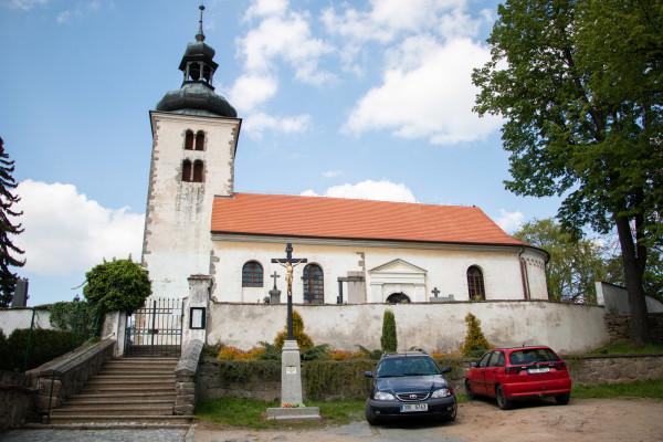 Olbramovice, kostel Všech svatých