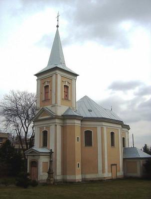 Olomouc-Nová ulice, kostel Panny Marie Pomocné