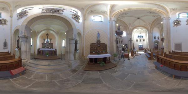 Interiér kostel