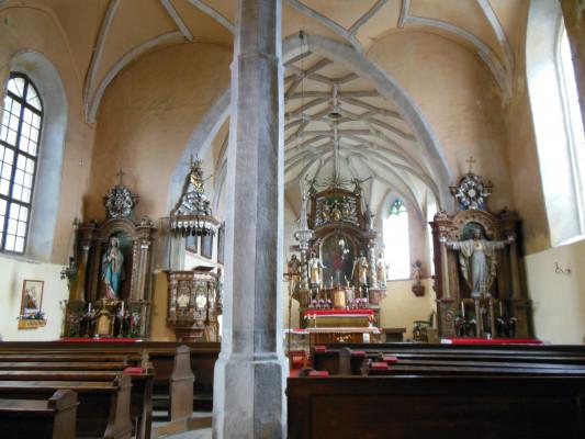 kostel sv. Ondřeje / Vnitřek