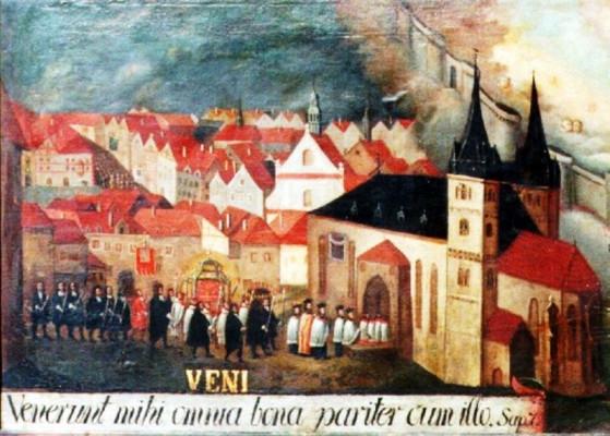 Chrám sv. Mikuláše a Alžběty / Historická malba chrámu