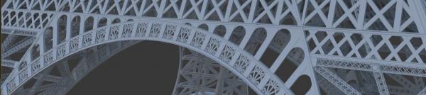 Beuronský dekor na Eiffelově věži / Beuronský dekor se dokonce objevuje i na Eiffelově věži v Paříži.