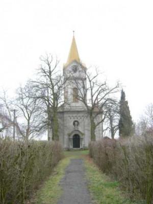 Křinec-Bošín, evangelický kostel, hřbitov