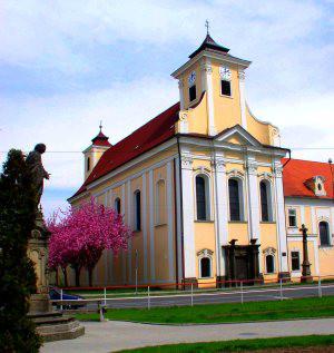 Prostějov, kostel sv. Jana Nepomuckého