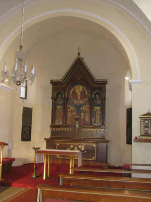 Třebešice, kostel Všech svatých