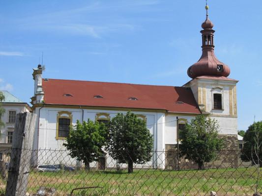 Kostomlaty pod Milešovkou, kostel sv. Vavřince