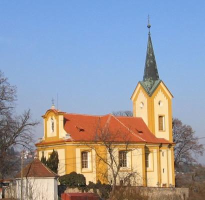 Všenory-Horní Mokropsy, kostel sv. Václava