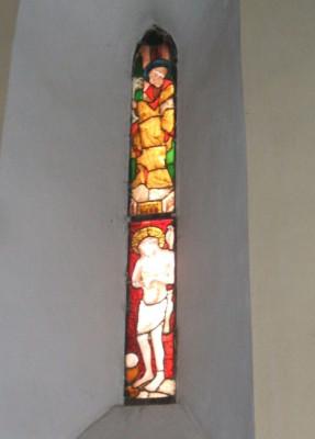 vitráž - sv. Petr a Kristus Trpitel
