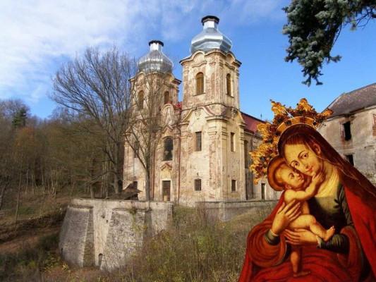 Žlutice-Skoky, poutní kostel Navštívení Panny Marie, Skoky u Žlutic