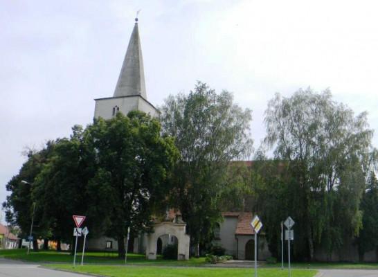 Hostěradice, kostel sv. Kunhuty