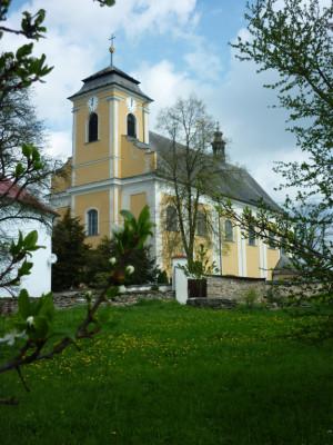 Nová Hradečná, kostel sv. Vavřince