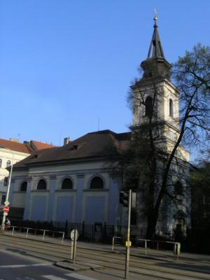Praha 5 - Smíchov, kostel Nejsvětější Trojice