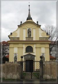 Pardubice, kostel Bolestné Panny Marie - Kostelíček