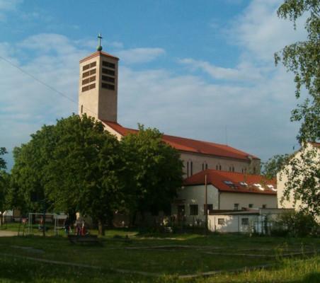 České Budějovice, kostel sv. Vojtěcha, Čtyři Dvory