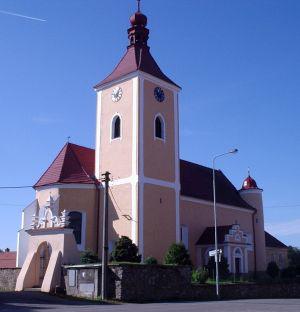 Vlašim-Domašín, kostel sv. Jakuba Staršího