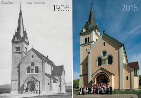 Karlovy Vary - Rybáře, kostel Povýšení sv. Kříže
