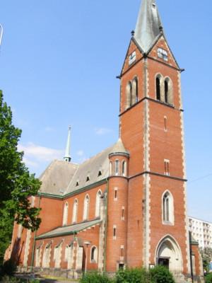Teplice-Trnovany, kostel Božského Srdce Páně