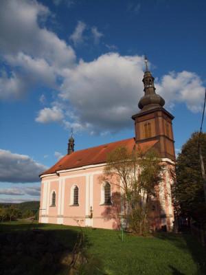 Srbská Kamenice, kostel sv. Václava