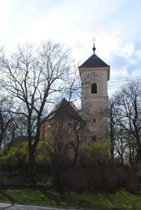 Křenovice, kostel sv. Vavřince