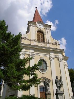 Židlochovice, kostel Povýšení svatého Kříže