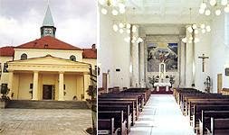 Rajhrad, kostel Božského Srdce Páně