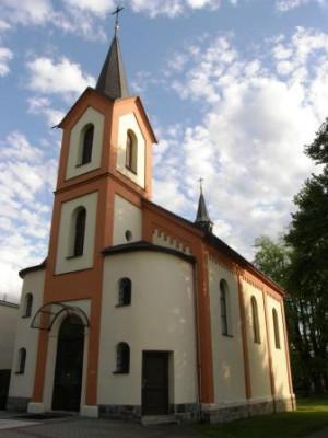 Sviadnov, kostel sv. Jana Nepomuckého
