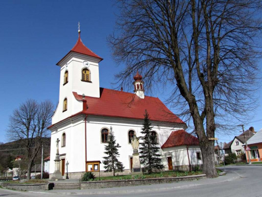 Kašava, kostel sv. Kateřiny