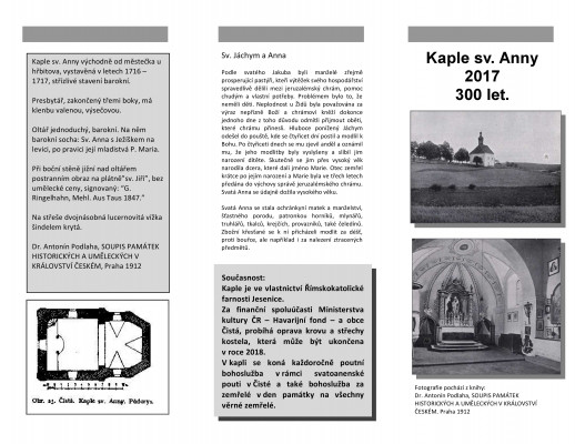 Letáček strana 1 / Vydáno v roce 2017