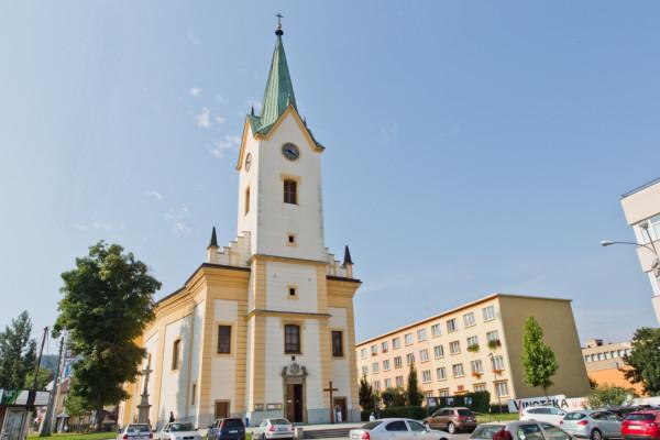 Zlín, kostel sv. Filipa a Jakuba
