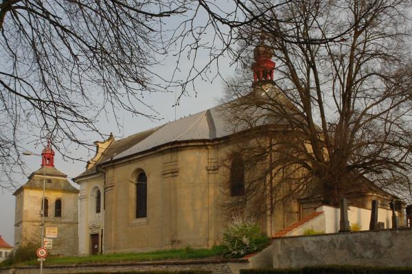 Kostomlaty nad Labem, kostel sv. Bartoloměje na we