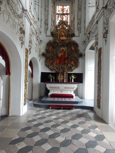 Zámek Červený Hrádek / Zámecká kaple sv. Jana Křtitele
