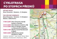 Cyklotrasa Po stopách předků: Brno (Černovice, Komárov, H.Heršpice) - Blučina - Židlochovice - Hrušovany